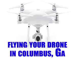 flying drone columbus ga